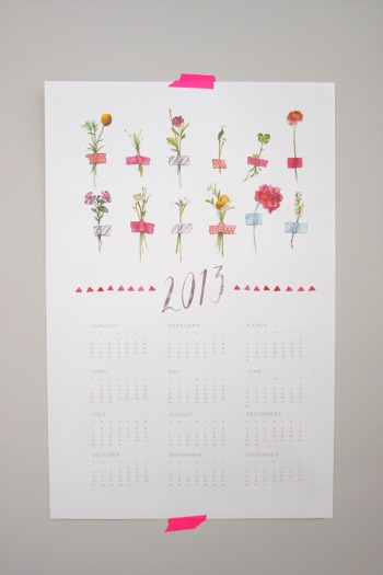 2013_Watercolor_Flower_calendar_2